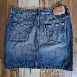 Levi's Blue Straight Denim Short Skirt Size 10